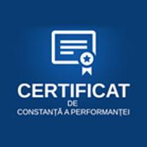Certificat de constanta a performantei